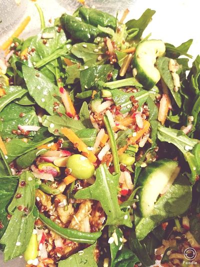 Salad Time Quinoa with Nuts and added some Makrel Healthy Eating Food Photography Foodpictures Tasty Foods