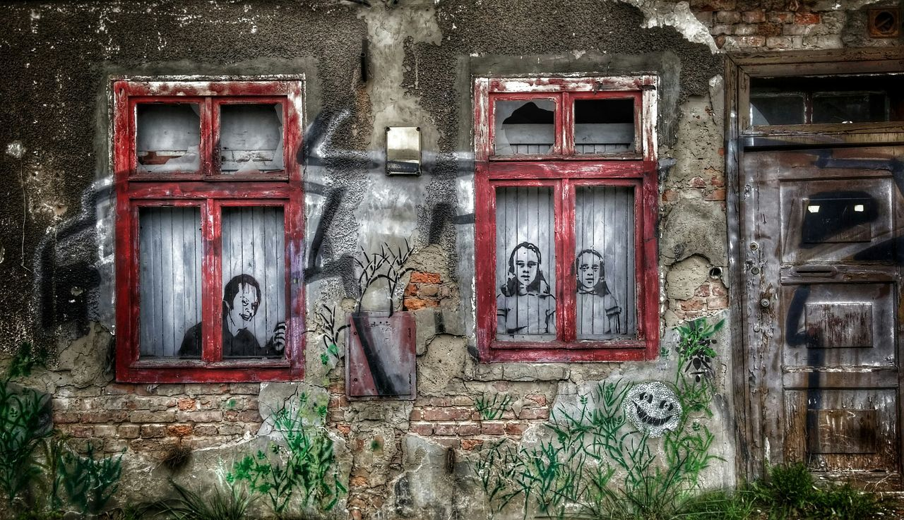 architecture, no people, building exterior, window, built structure, door, day, outdoors, abandoned, plant, close-up