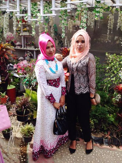 Natural Beauty Two People Happiness Smiling Celebration Standing Day Cheerful Outdoors Togetherness Friendship Taking Photos Hello World Hijab Hi! Perempuanindonesia Looking At Camera Gadisbatipuh