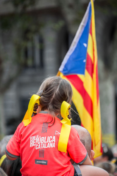 Diada 2018. Catalan demonstration in Barcelona. 11setembre Diada Diada2018 Catalan Catalonia Catalunya Independence Day Demonstration Estelada Flag Flags In The Wind  Group Of People Manifestation Outdoors Political Prisoners