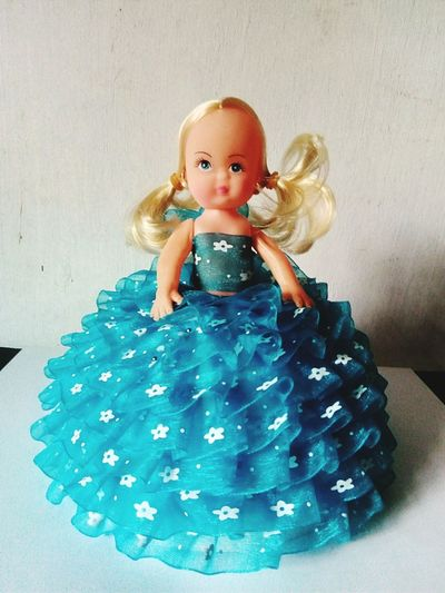 Modal Blue Cute Dress Clothing Art And Craft Toyphotography Toys Dall Ribbon Toy Girls Ribbons