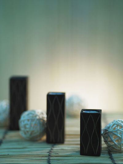 candle light Aromatherapy Candle In A Row Lighting Equipment Melting Rattan Ball Spirituality Wellness Candle Stand Close-up Indoors  No People Religion Selective Focus Table Tea Light Zen