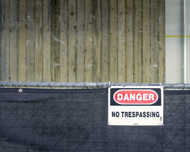 Architecture Close-up Corrugated Iron Day Forbidden No Parking Sign No People Outdoors Text