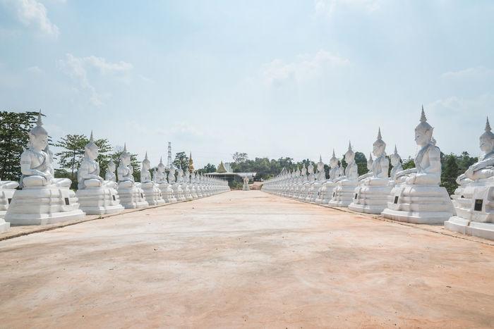 Architecture Buddha Statue Landscape Religion Sakonnakhon SakonNakhon ,Thailand Statue Temple Temple In Thailand Tourism Travel White Buddha White Buddha Statue
