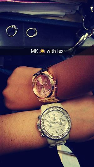 Michaelkors Lex Girls Watches Hello World