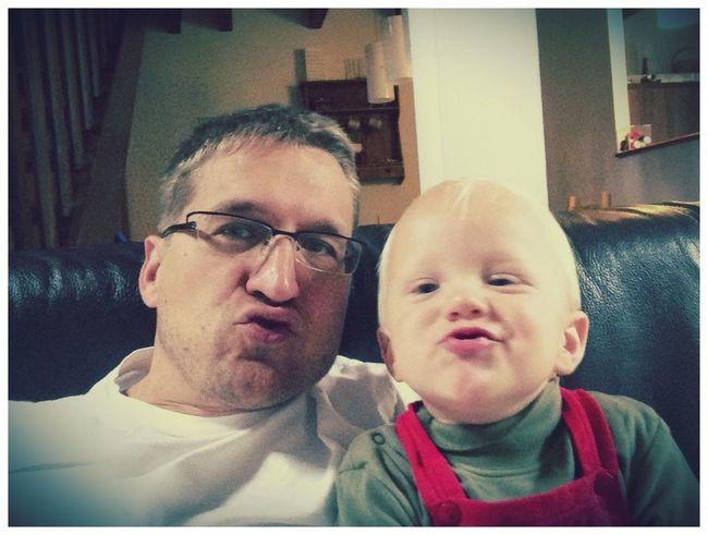 Modern Father Father & Son Duckface Selfie