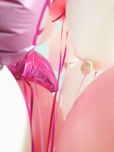 Baloons Pink And White Happy Day