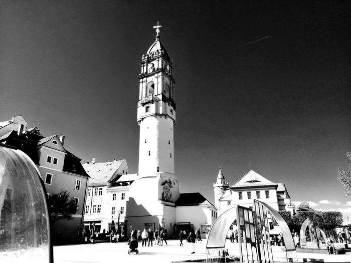 Blackandwhite Black & White Turm Unforgettable ♥ Unforgettable Moment Clock City Sky Architecture Building Exterior Clock Tower Historic Tower Lighthouse Sculpture History