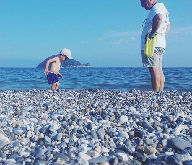 Isola Gallinara Liguria - Riviera Di Ponente Sea Beach Babyboy Senior Adult Lovely
