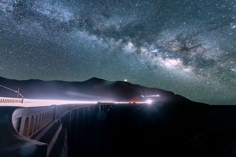 Bixby bridge milky way star gazer