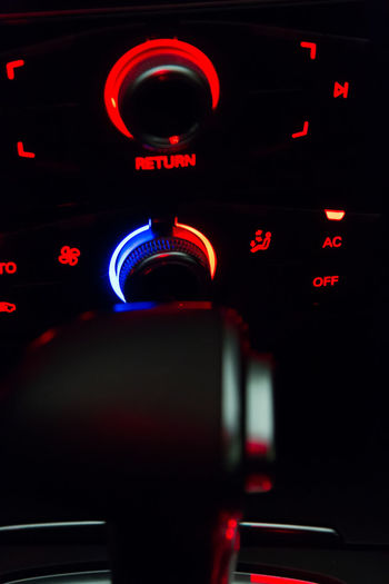 I can control the temperature at least in my car :) Car Interior Close-up Communication Gear Shift Lever Illuminated Indoors  Luxury Car Night No People Red Technology Temperature Control