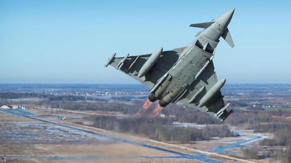 Afterburner Air Air Force Air Vehicle Aircraft Airspace Alert Baltic Eurofighter Fighter Italy Lithuania Military Missiles Mission NATO Policing Protection Quick Reaction Safety