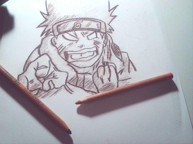 Portrait Otaku Naruto Uzumaki Drawing