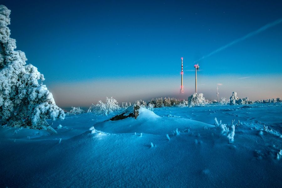 Beauty In Nature Blue Clear Sky Cold Temperature Day Frozen Landscape Nature No People Outdoors Scenics Sky Snow Tranquility Weather Winter