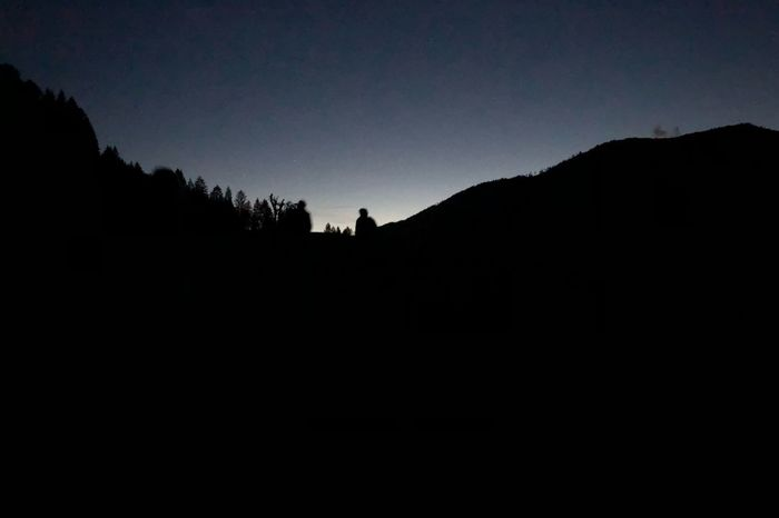 Night Walk Silhouette Sky Night Mountain Scenics - Nature Nature Beauty In Nature Tranquility Tranquil Scene
