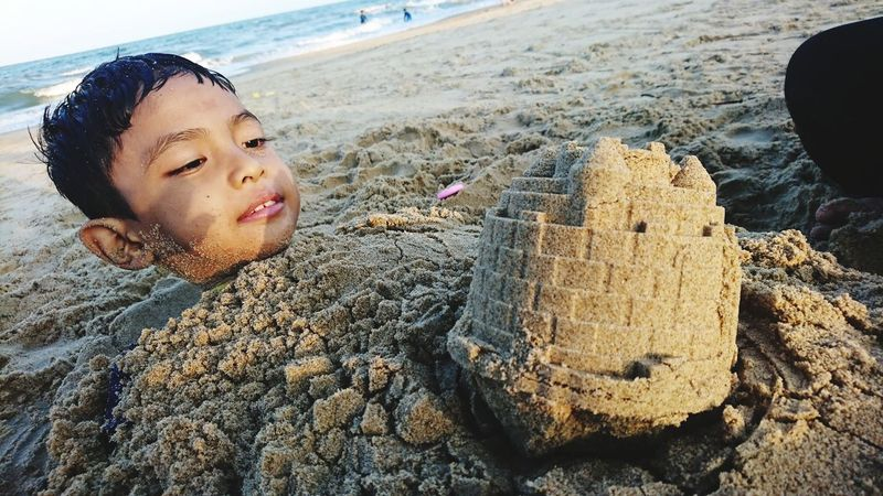 I'm out! EyeEm Selects Childhood Beach Sand Child Relaxation Close-up Sandcastle