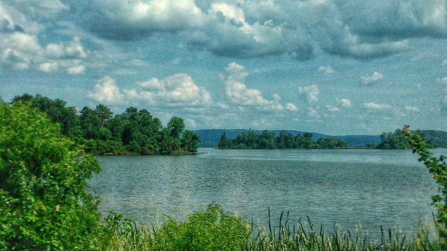 Relaxing Escaping USA Beauty In Nature Beautiful Day EyeEm Best Shots - Nature EyeEm Gallery EyeEm Nature Lover Lake View Lakeside Blue Sky Clouds Waterscape Water Trees Alabama Landscape_Collection The Following