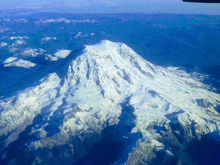 Mt Rainier Aerial View Beauty In Nature Mountain Snow Perspectives On Nature