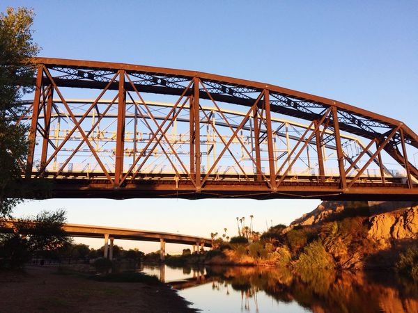 A After Work Nature Walk At The Wetlands To Decompress From A Horrible Work Night. Yuma AZ.💫 Bridge - Man Made Structure Bridge Colorado River Beauty In Nature Beautiful Historical Early Morning Decompressing Stressreliever Fresh Morning Magical Man Made Object Ocean To Ocean Bridge