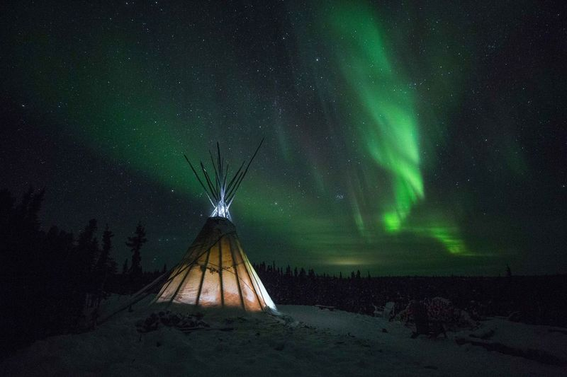 Beautiful Yellowknife Northern Lights Yellowknife Night Star - Space Space Scenics - Nature Sky Astronomy No People Space And Astronomy Galaxy Star Green Color Tranquil Scene Illuminated Tranquility Beauty In Nature Environment Star Field Constellation Science Nature
