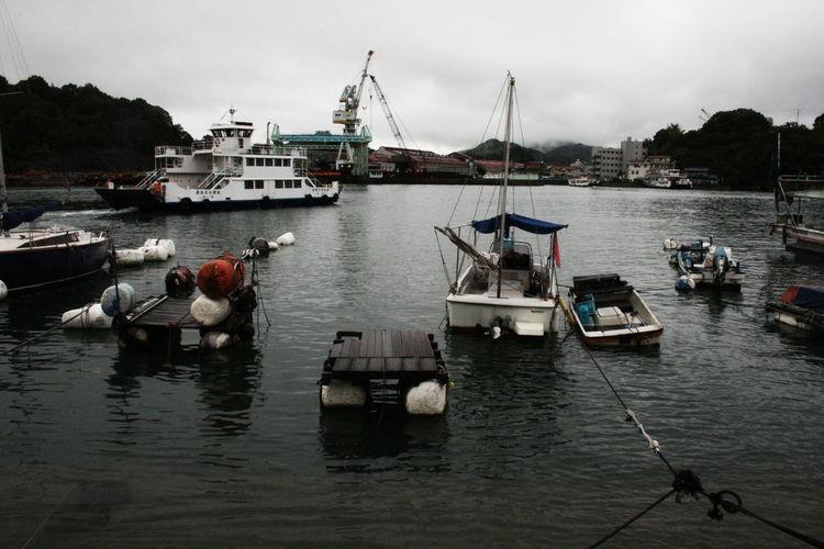 #Boats #cloudy #fishermen #hiroshima #japan #ocean #rural Fishing Boat Fishing Industry No People Water