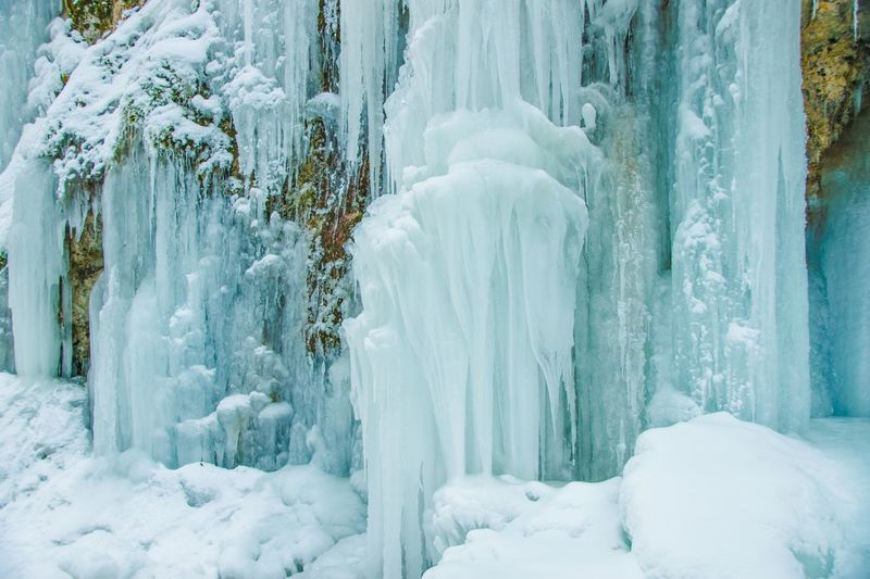 Winter Cold Temperature Snow Nature Beauty In Nature Frozen Weather White Color Ice Tranquil Scene Scenics Day Icicle No People Tranquility White Outdoors Ice Crystal Waterfall