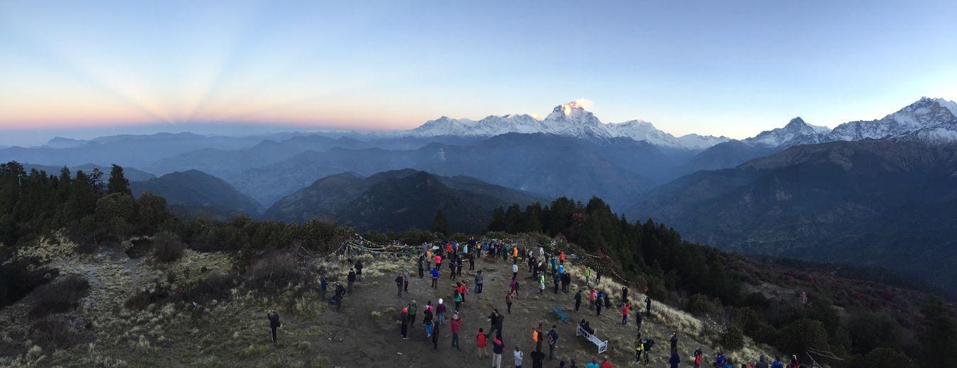 Sunrise in Annapurna, nepal Nepal Sunrise Annapurna