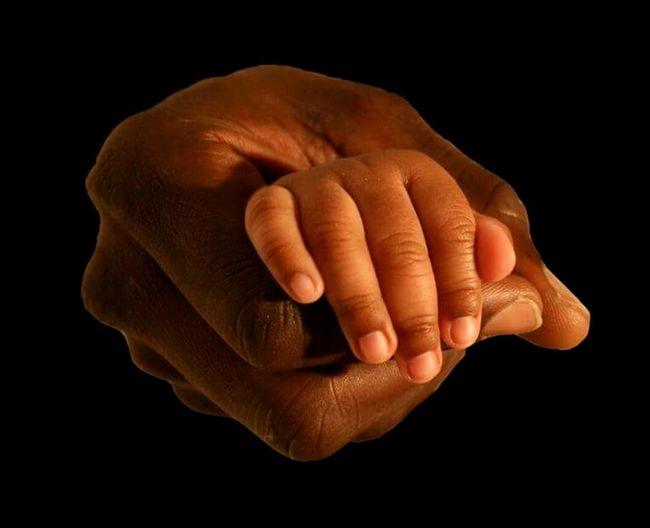 Babyhand Fatherandsonmoments Holding Hands Human Hand Black Background Fingernail Space Human Finger Close-up Body Part Hand