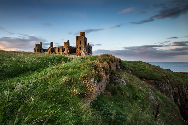 Castle Cruden Bay Dracula Ruins Scotland Slains Castle Ancient Architecture Building Exterior Buildings Built Structure Castle Dracula's Castle History Old Ruin Outdoors Scenics The Past