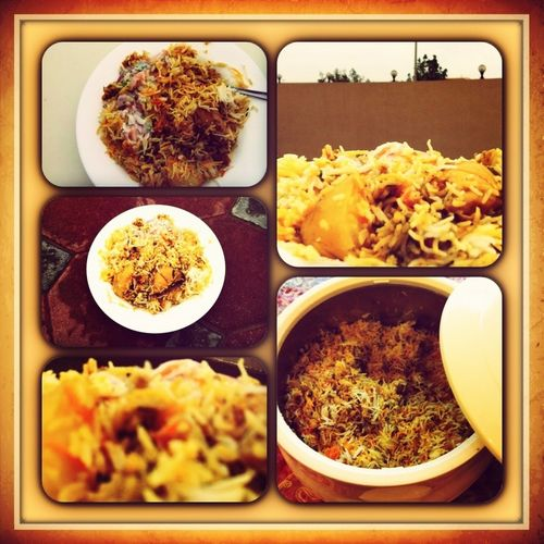Yummy Asian Food Rice Chicken-Biryani