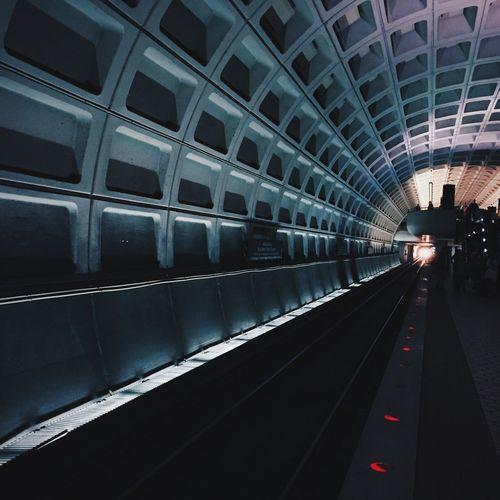 DC Metro Transportation Travel Modern Public Transportation Subway Station Indoors  Mode Of Transport Subway Train Illuminated Architecture No People Day DC Metro Washington, D. C. Subway Underground Train Waiting