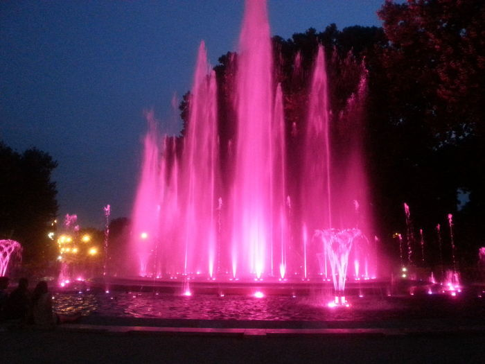 Illuminated fountain in pink light on Margaret Island, Budapest, Hungary Arts Culture And Entertainment Blurred Motion Celebration Exposure Fountain Fountain Glowing Human Representation Illuminated Lens Flare Long Exposure Motion Night Pink Fountain Pink Light Power In Nature Sculpture Shiny Speed Splashing Spraying