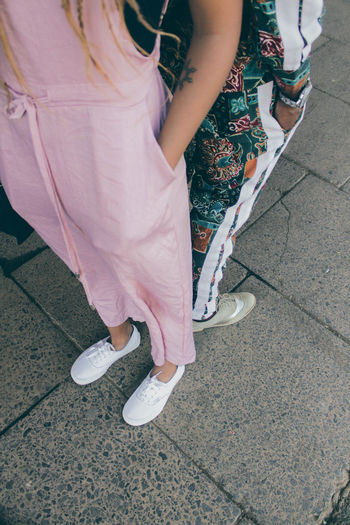 Feeling comfortable 👟 Africa Artofvisuals Photography Fashion VisualArt  Visualsoflife EyeEm Casualstyle Shootityourself EyeEm Best Shots Visual Creativity Freedomthinkers Low Section Women Standing Human Leg High Angle View Footwear Canvas Shoe Shoe Trousers Pair Things That Go Together
