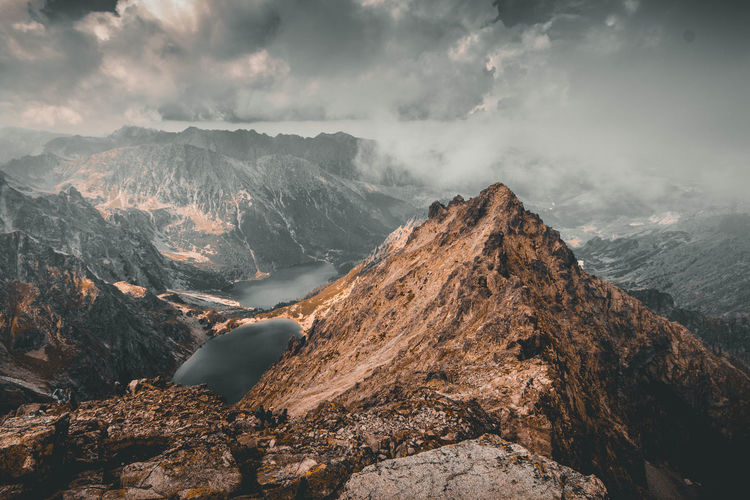 Tatry Beauty In Nature Cloud - Sky Day Environment Formation Land Landscape Mountain Mountain Peak Mountain Range Nature No People Non-urban Scene Outdoors Rock Rock - Object Scenics - Nature Sky Solid Travel Destinations