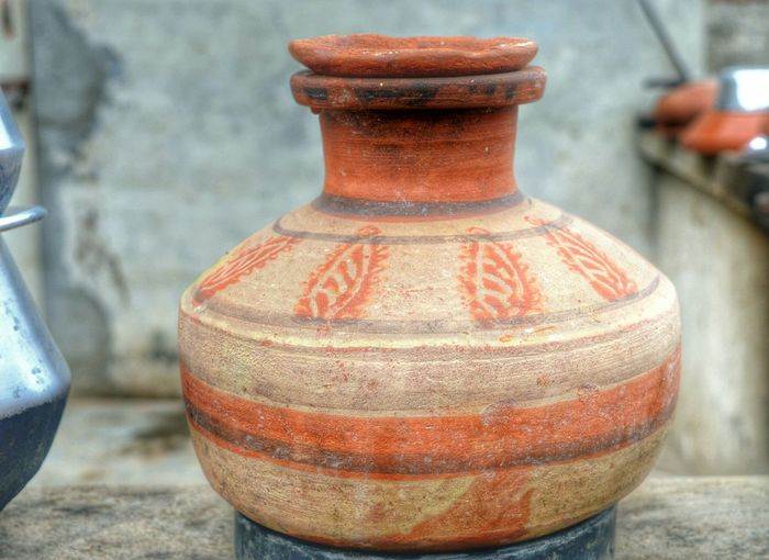 Close Up Of Earthen Pot