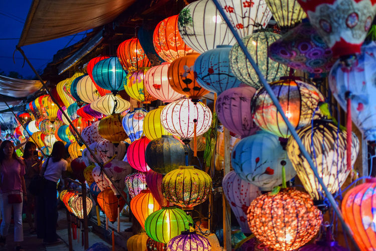 Lanterns in Hoi An Lanterns Lights Colors Nightphotography Night Multi Colored Hanging Choice Market Close-up Colorful Fairy Lights Adventures In The City