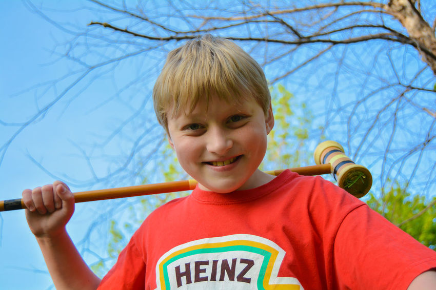 Croquet Kid Blue Boys Casual Clothing Childhood Croquet Cute Day Fun Headshot Leisure Activity Outdoors Portrait Sam Kratzer Sky
