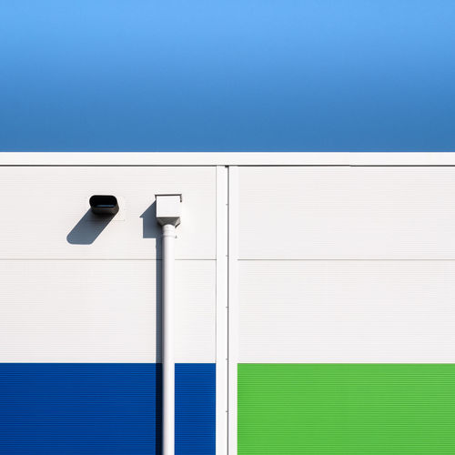 Greenwhiteblue Architectural Detail Architectural Feature Architecture Blank Blue Building Exterior Built Structure Clear Sky Close-up Copy Space Day Fujix_berlin Minimalism Minimalist Photography  Minimalistic No People Outdoors Ralfpollack_fotografie Sky Wall - Building Feature White Color