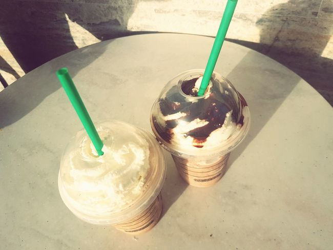 Drinking Straw Food And Drink Drink Day Drinking Glass No People Close-up Frozen Food Freshness Starbuckslover Starbuks  Starbucks Love Trinidad Trinidad And Tobago Caribbean Lovely Weather Smiling Table Drinkup Iced Latte Iced Coffe Iced Drink First Time Happytime Happiness♥