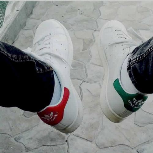 Shoes STAN SMITH Green Vs Red This Pic Is Taken At School With My Best Friend