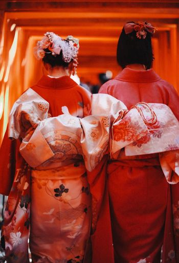 Girls in kimono Girls Kimono Beautiful Back Inari Shrine Japan See The Light An Eye For Travel The Traveler - 2018 EyeEm Awards Autumn Mood