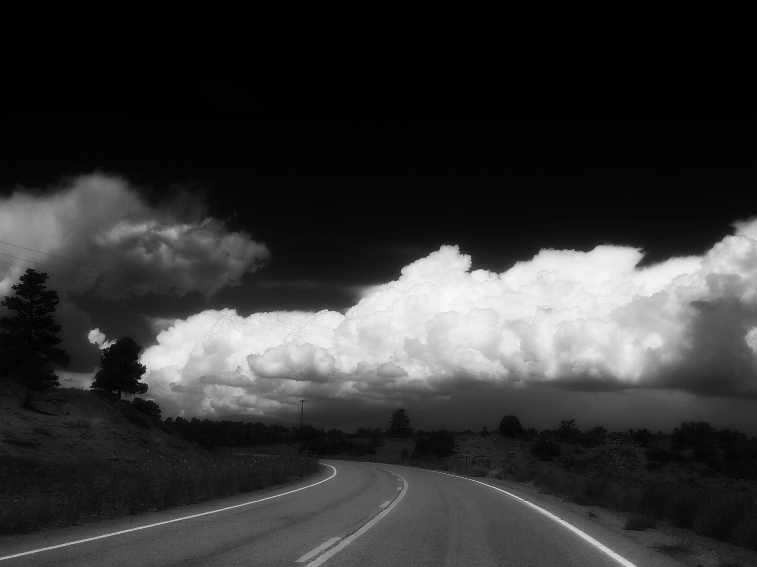 the way forward, road, diminishing perspective, transportation, vanishing point, sky, road marking, empty road, country road, landscape, cloud - sky, nature, cloudy, street, long, tranquility, tranquil scene, empty, outdoors, no people