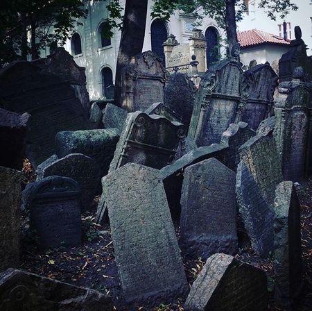 Old Jewish Quarter Cemetery Gravestone Graveyard Prague