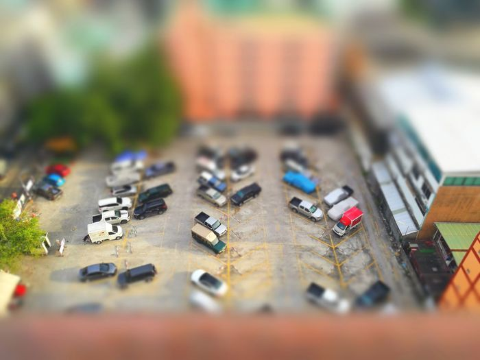 Model mini car Model Tilt-shift Outdoors Modelcar Parking