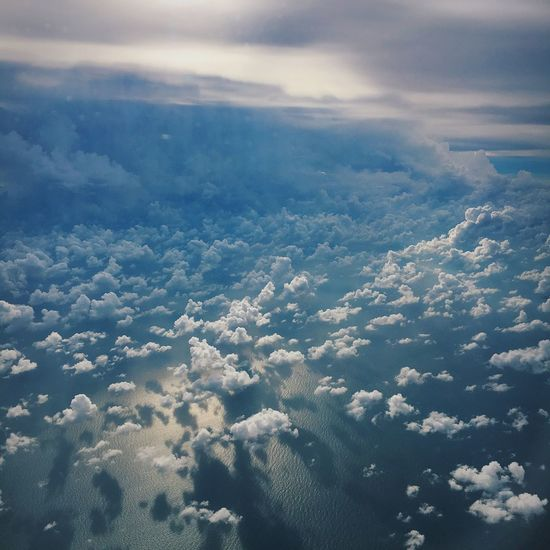 Aerial View Beauty In Nature Cloud Cloud - Sky Cloudy Nature Scenics Sky A Bird's Eye View