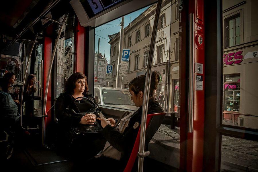 Tram EyeEm Best Shots People Luggage Warm Clothing Trainwindow Handbag  Prague Czech Republic Tram Turning Women Streetphotography Street Full Length Women Business City Beautiful Woman Window Business Finance And Industry Street Scene Capture Tomorrow