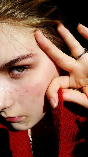 Human Hand Young Women Portrait Beautiful Woman Women Females Beauty Red Human Face Beautiful People