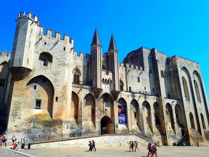 Ancient Civilization History Architecture Ancient Avignon, France Travel Destinations Built Structure Building Exterior Tourism Large Group Of People Ancient Travel Old Ruin Outdoors Day Vacations Real People Sky People Adult Adults Only