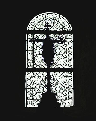 Window Silhouette Arch Stained Glass Close-up Dark Day Outline Arched Darkroom No People Place Of Worship Glass - Material Built Structure 12th Century Church Spirituality Religion Stained Glass Tranquil Scene Tourism Architecture Travel Destinations