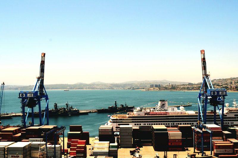 Panoramic view of harbor